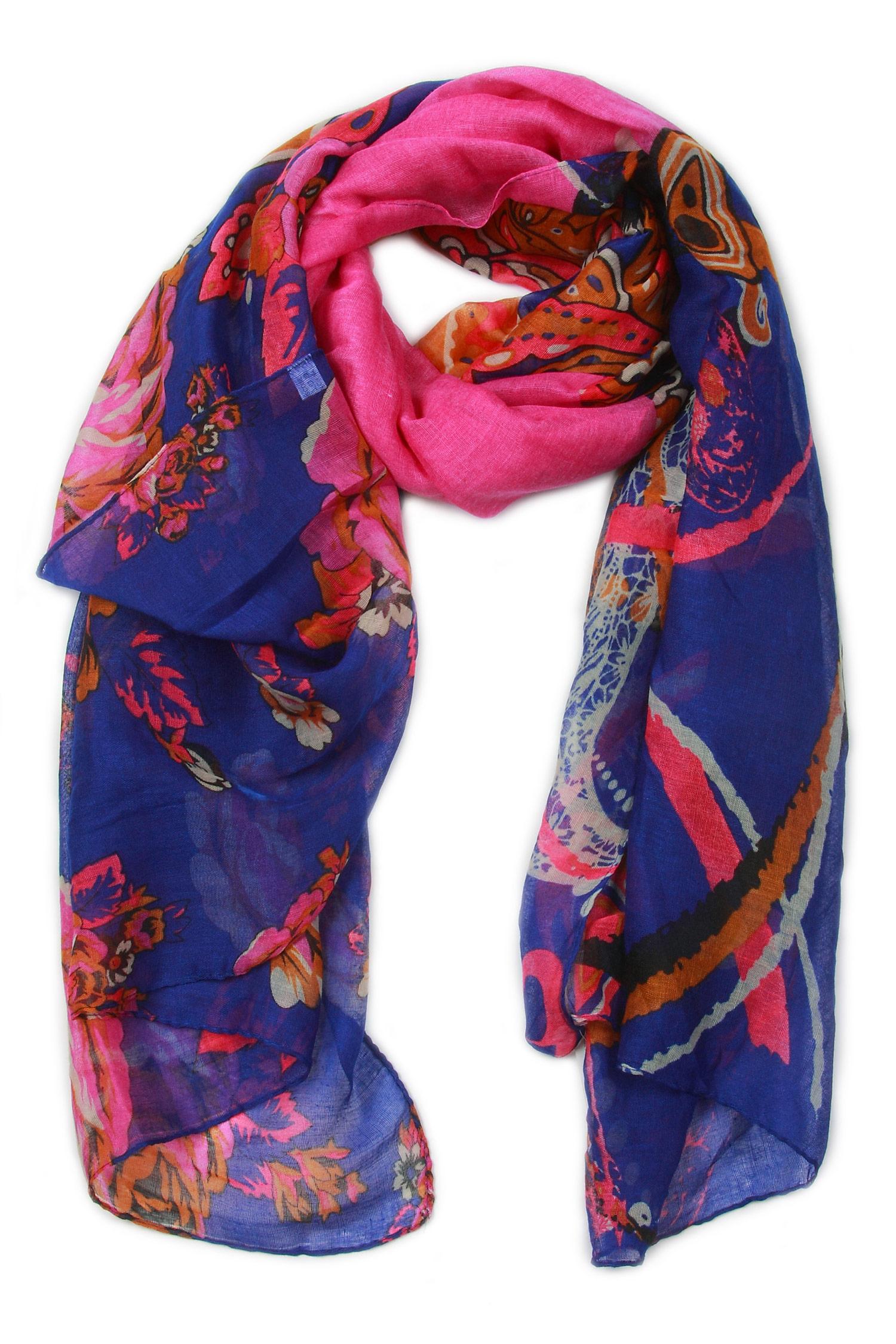 Платок из вискозы<br><br>Материал: Текстиль<br>Цвет: фиолетовый<br>Пол: Женский