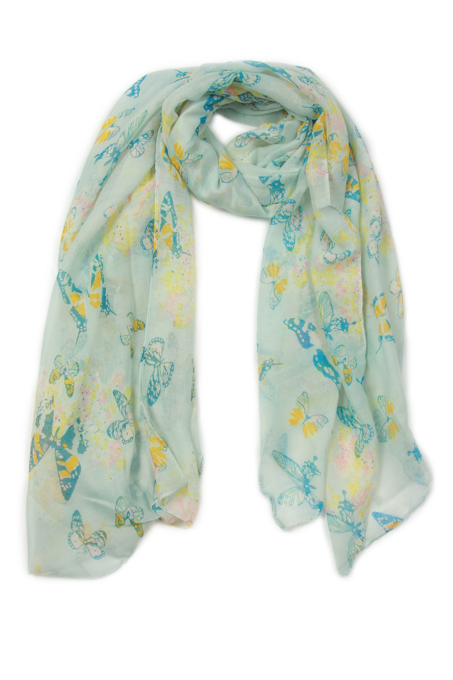 Платок из вискозы<br><br>Материал: Текстиль<br>Цвет: голубой<br>Пол: Женский