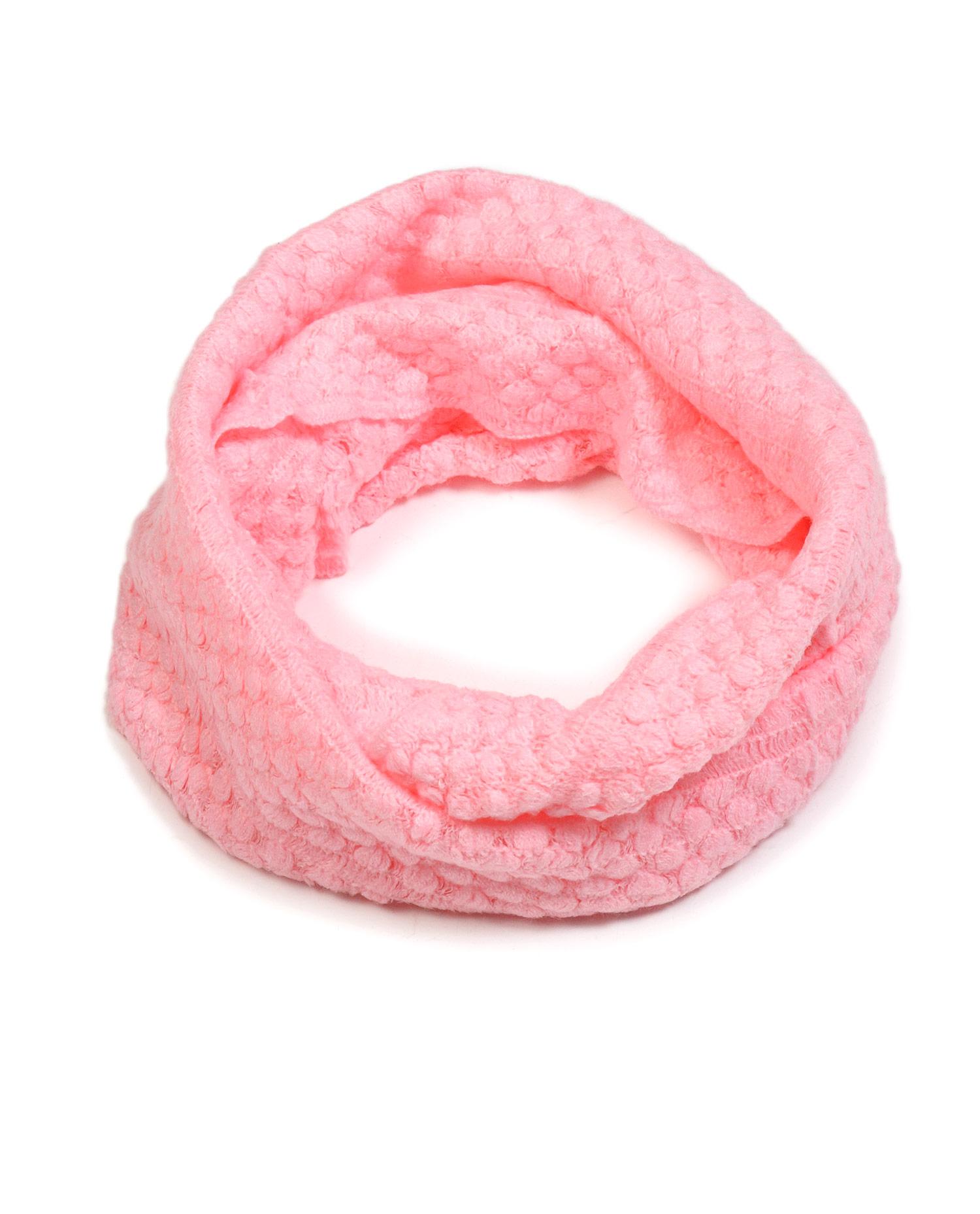 Шарф-снуд вязаный<br><br>Материал: Текстиль<br>Цвет: розовый<br>Пол: Женский