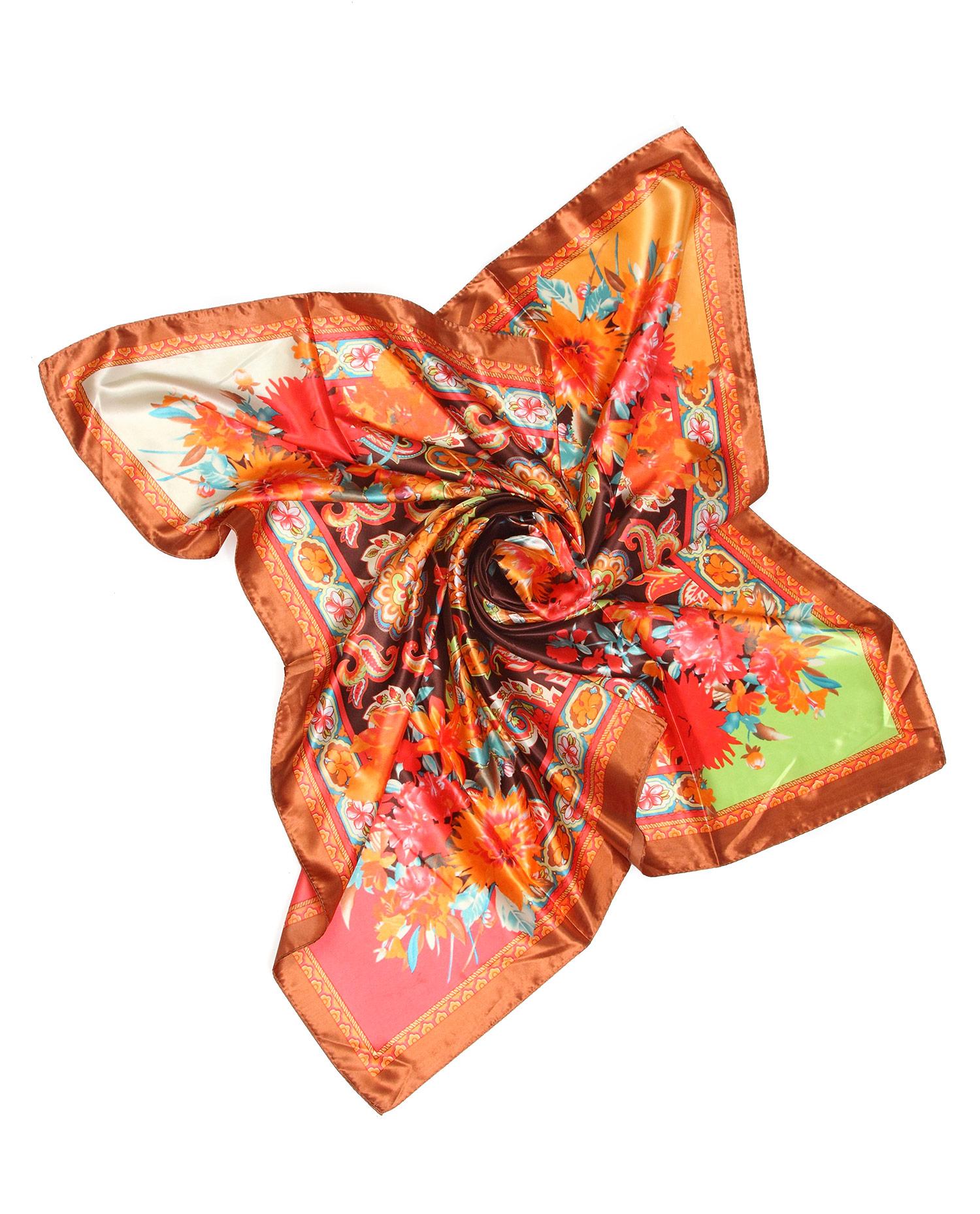 Платок из текстиля<br><br>Материал: Текстиль<br>Цвет: коричневый<br>Пол: Женский