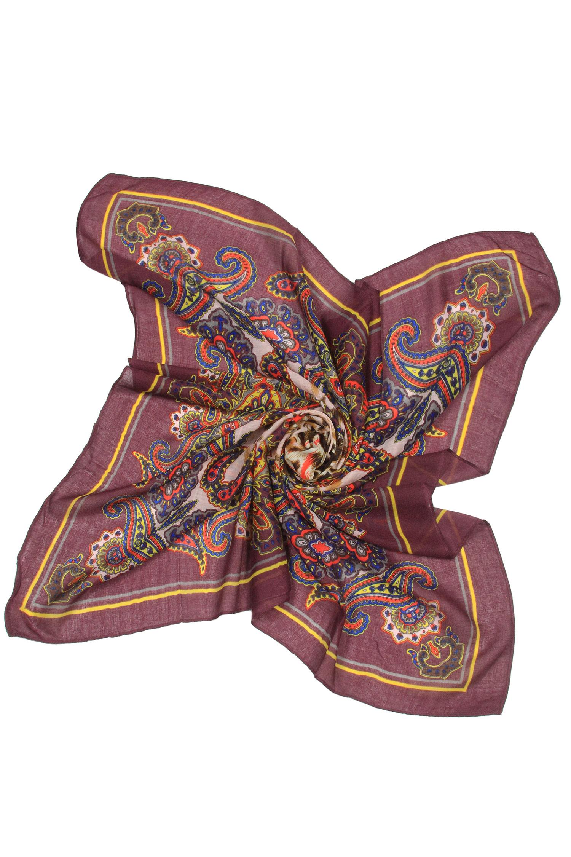 Платок из вискозы<br><br>Материал: Текстиль<br>Цвет: бордовый<br>Пол: Женский