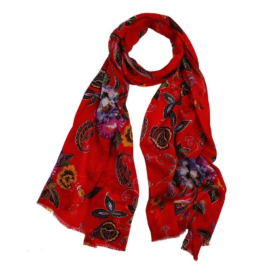 Палантин<br><br>Материал: Текстиль<br>Цвет: красный<br>Пол: Женский