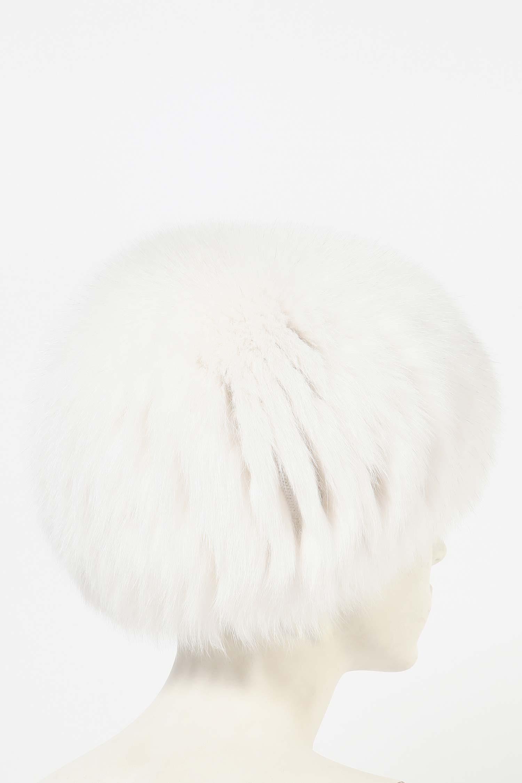 Шапка женская из песца от Московская Меховая Компания