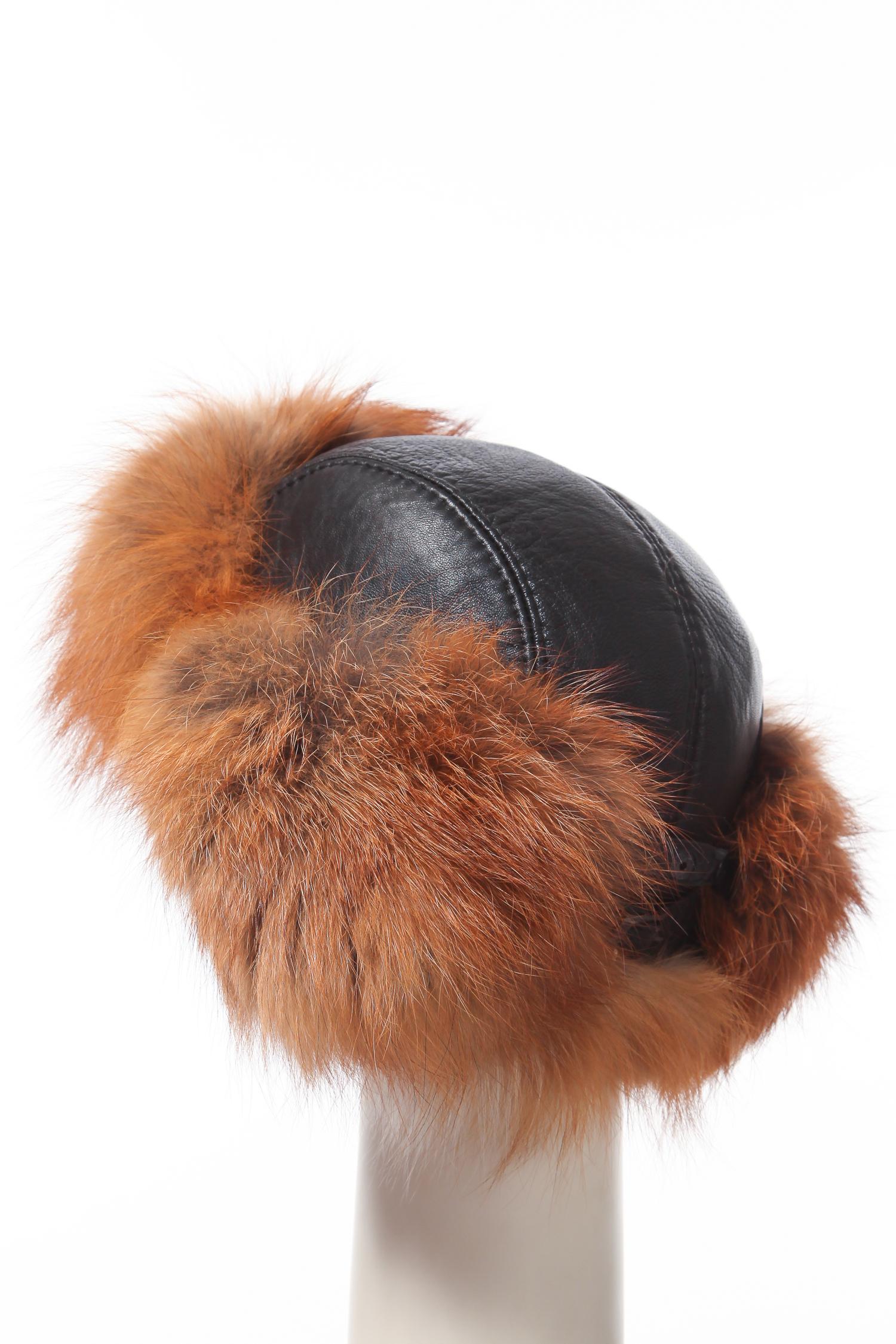 Шапка мужская из лисы от Московская Меховая Компания