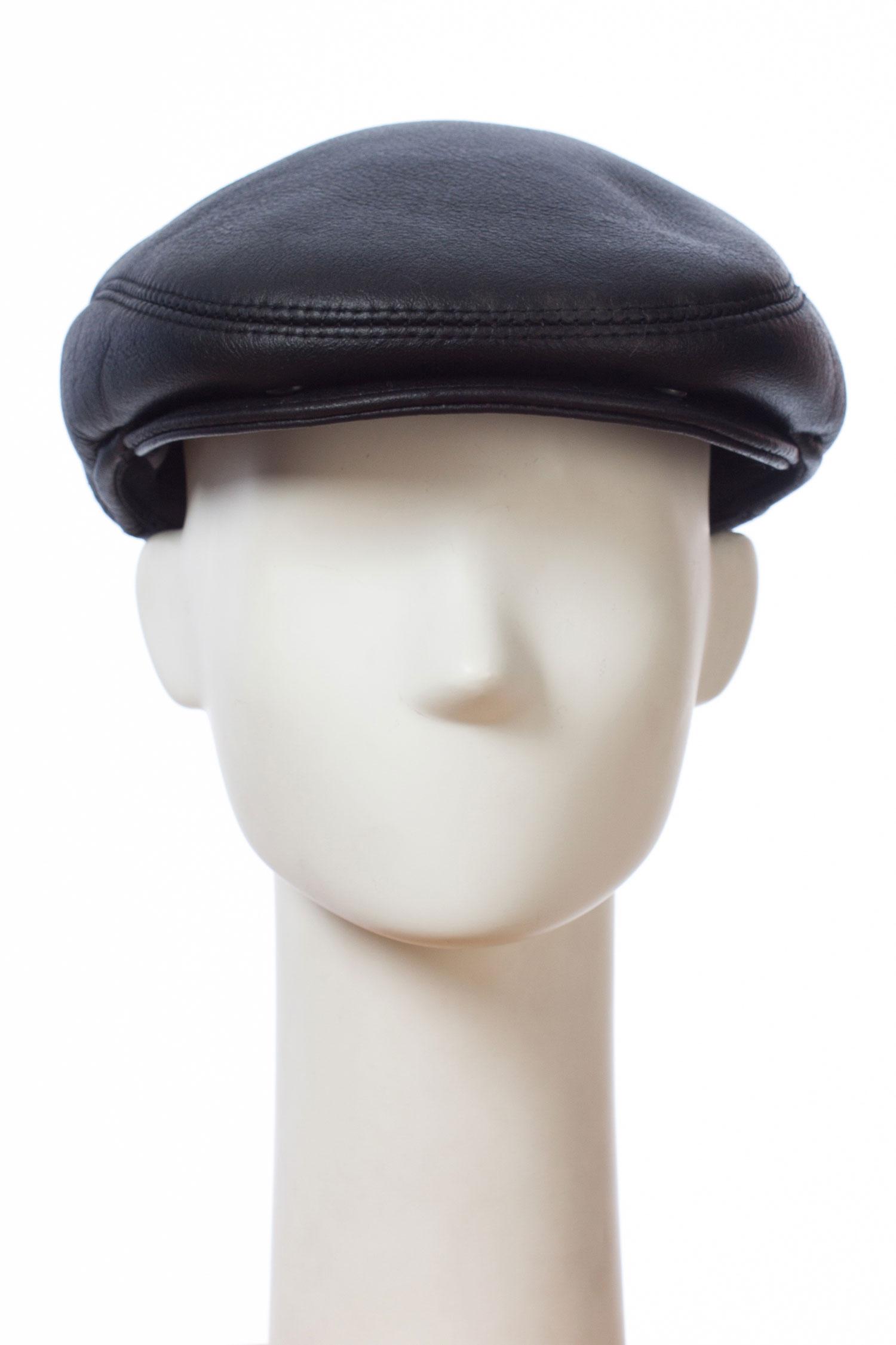 Шапка мужская из натуральной кожи и овчиныКлассическая мужская кепка из натуральной кожи специальной выработки Силк, с мехом ОВЧИНА изнутри.<br><br>Силк -это добротное, тонкое, красивое покрытие. Создают его за счет пропитки замши специальным раствором, смешанным с резиновой массой.<br><br>Материал: Кожа овчина<br>Цвет: черный<br>Размер RU: 58-59