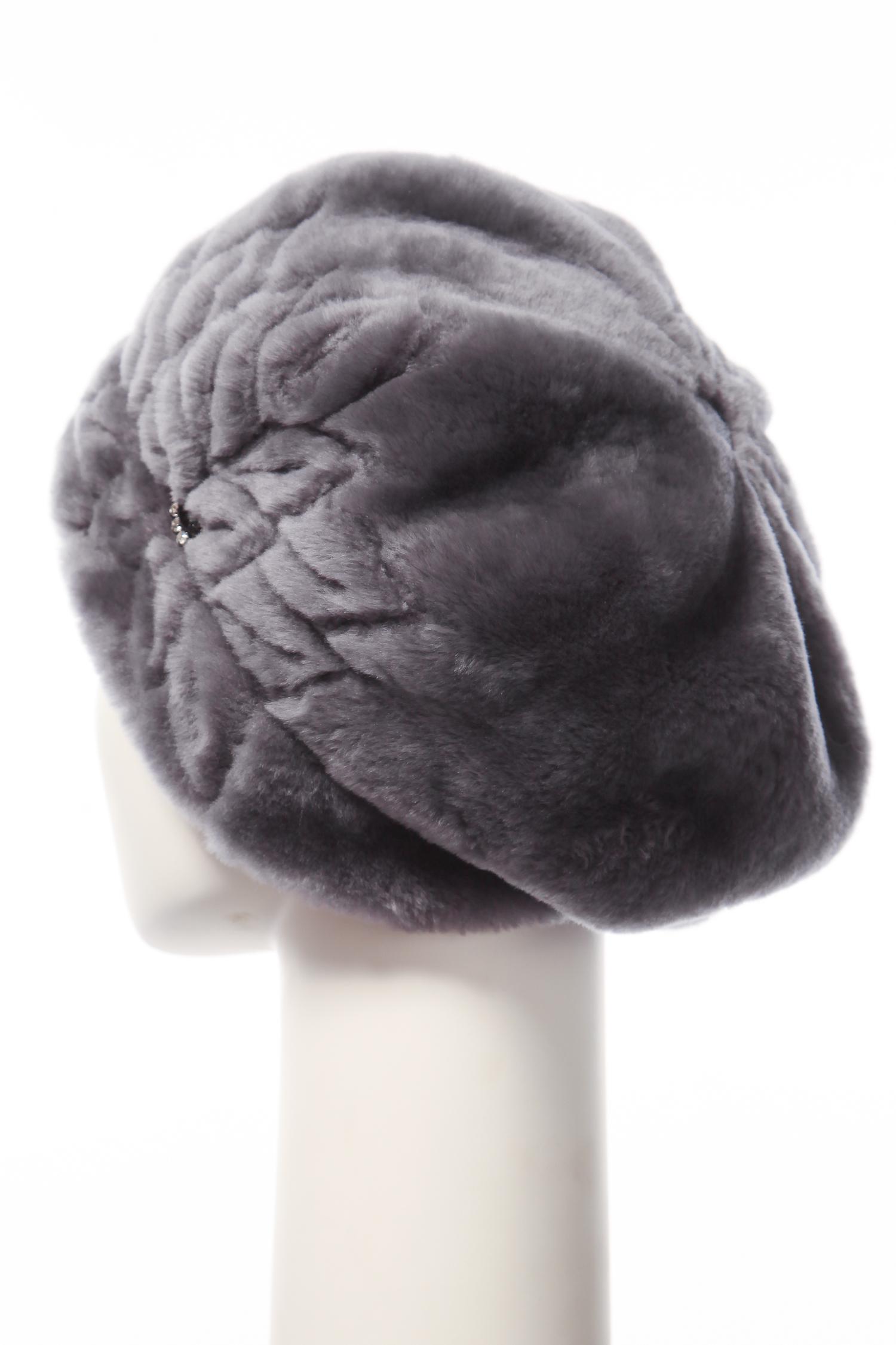 Шапка женская из мутона 0600167 от Московская Меховая Компания