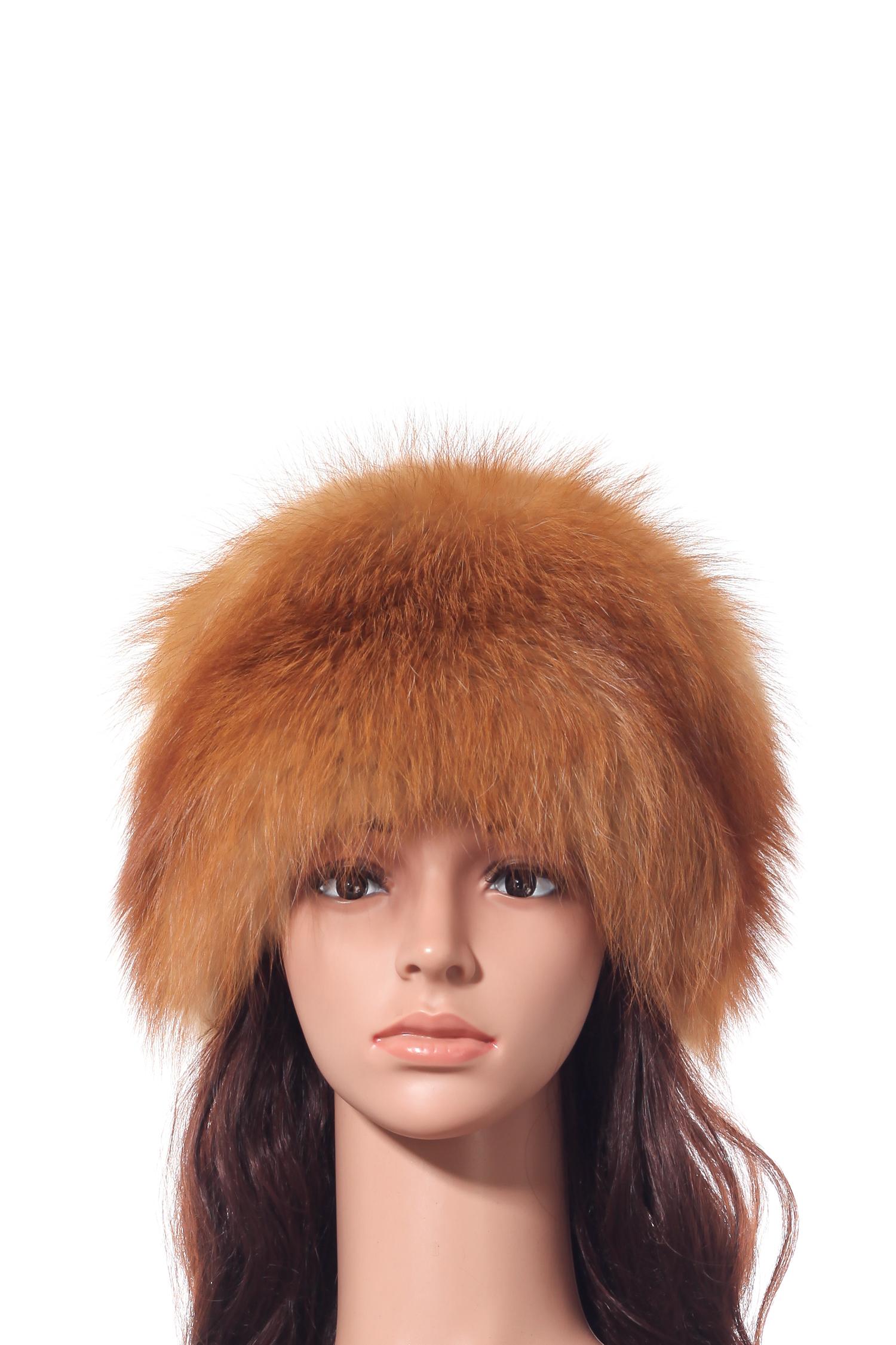 Шапка женская из лисы от Московская Меховая Компания