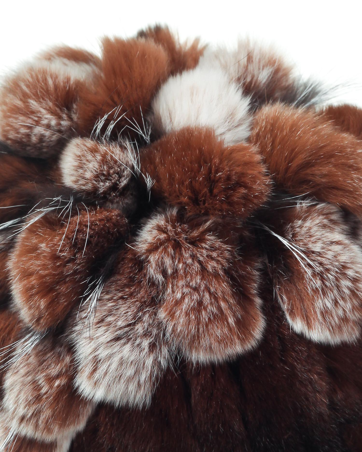 Шапка женская из кролика от Московская Меховая Компания