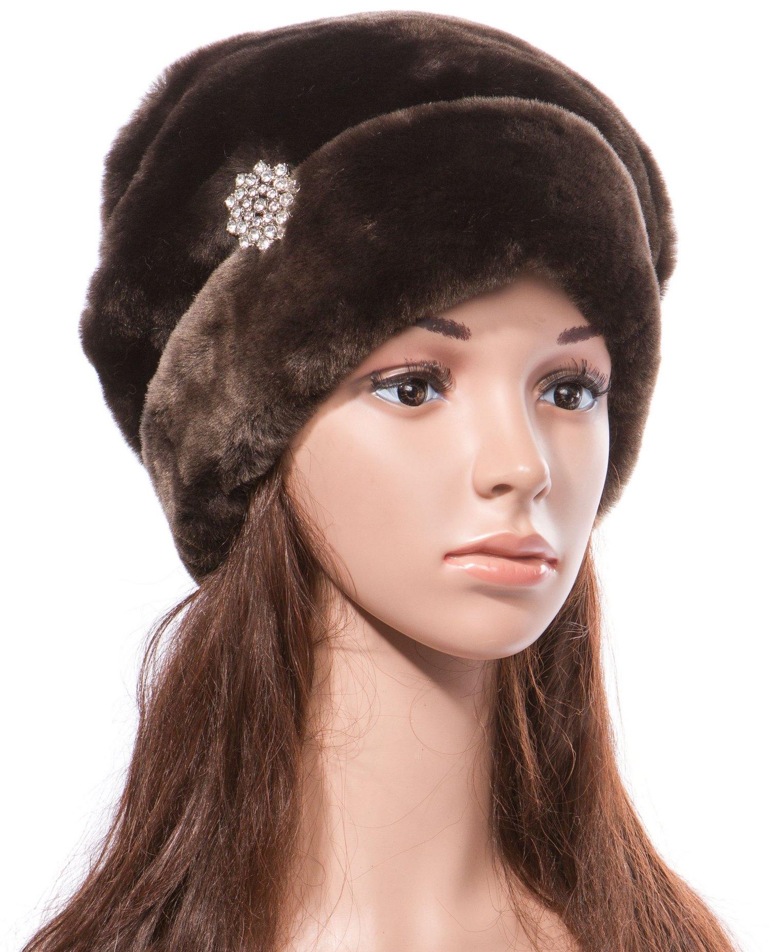 Шапка женская из мутона Московская Меховая Компания