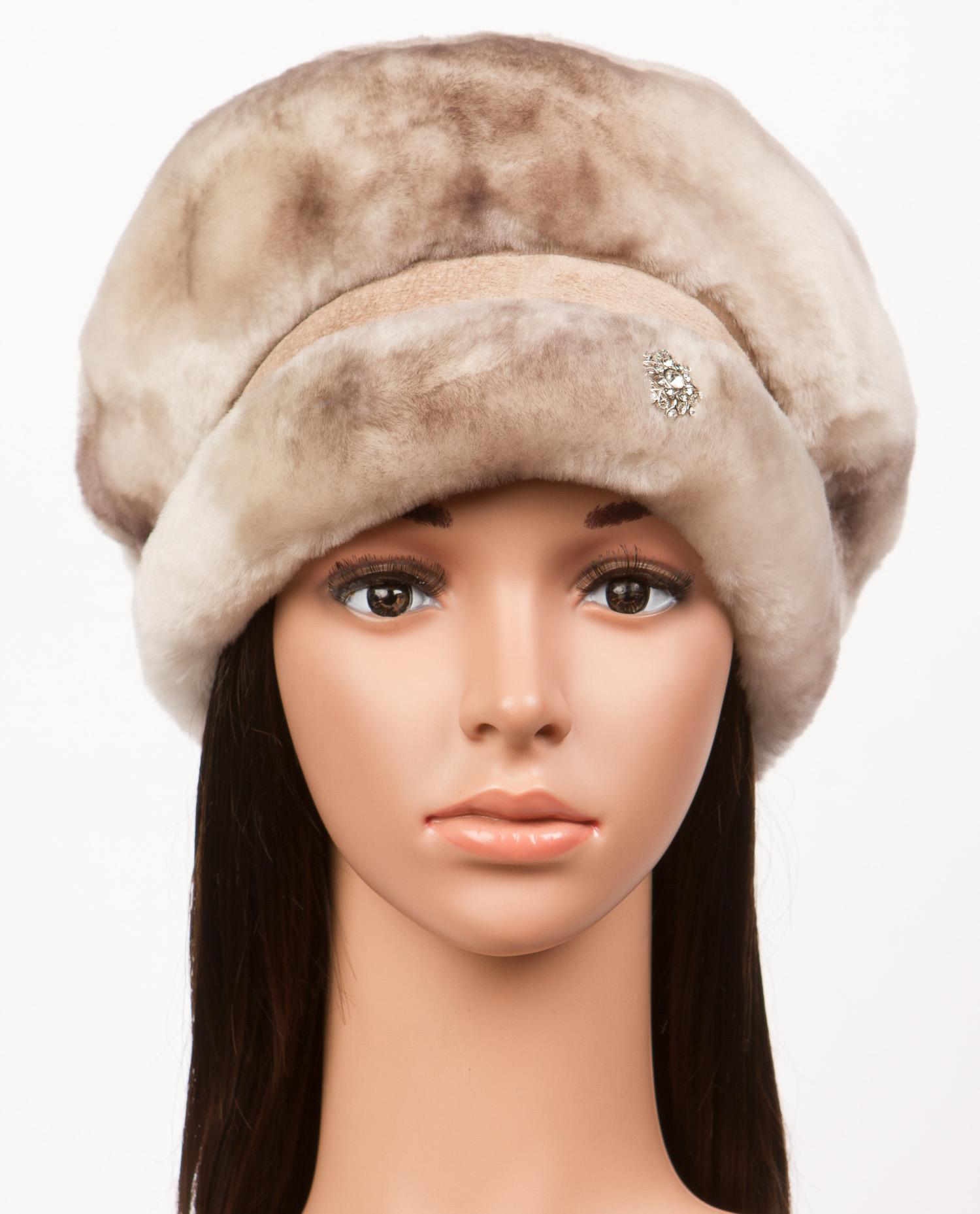 Шапка женская из мутона, без отделки Московская Меховая Компания
