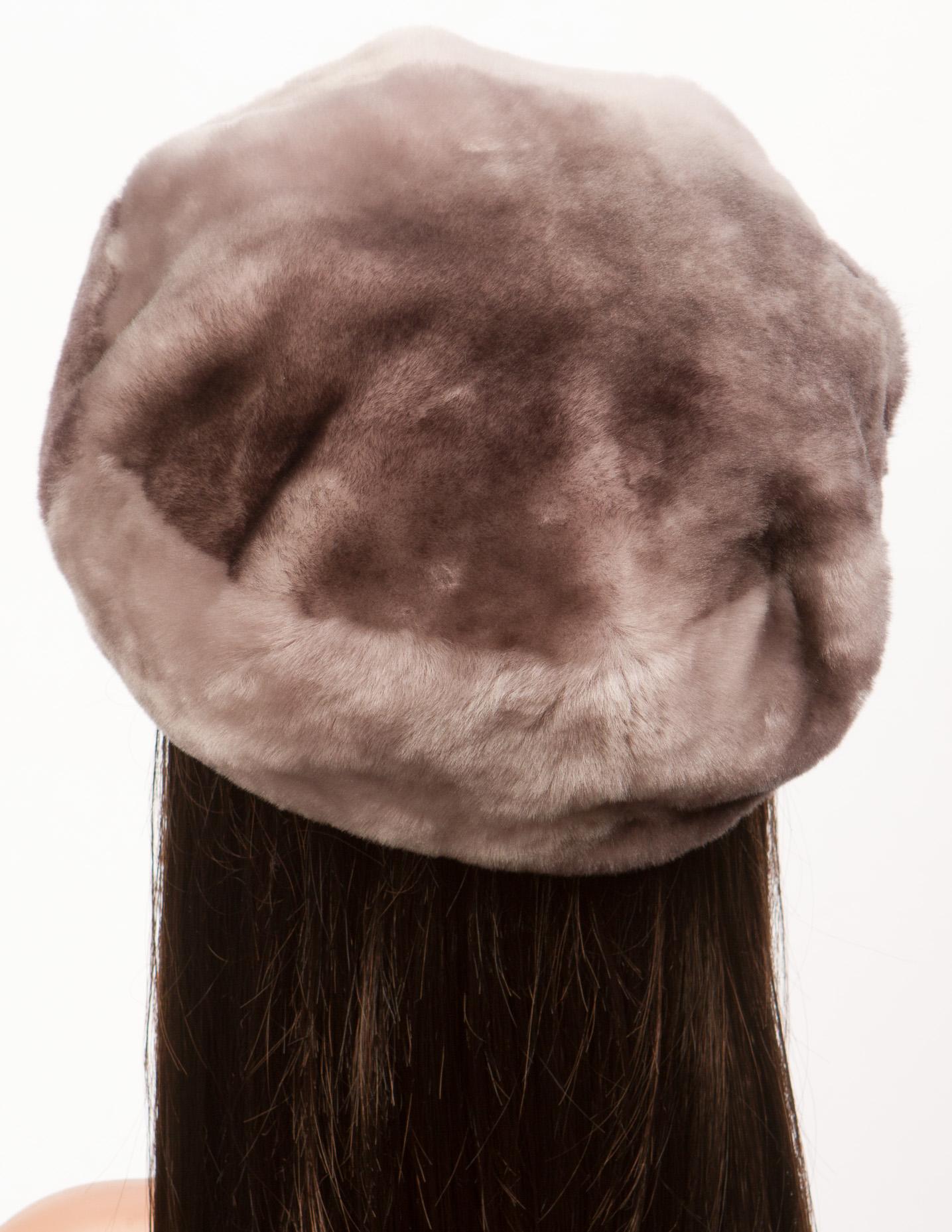 Берет женский из мутона, без отделки Московская Меховая Компания 0601319