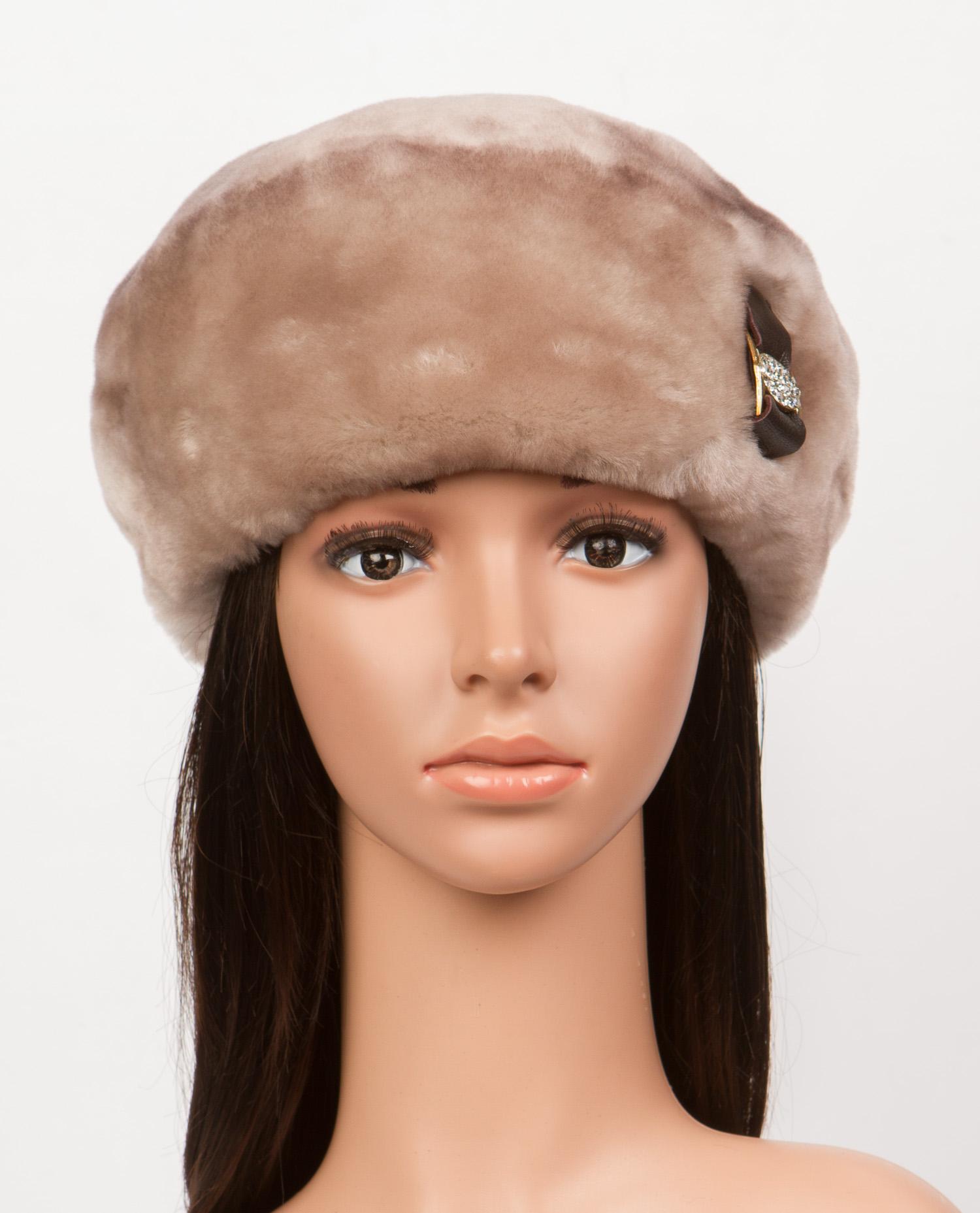 Берет женский из мутона, без отделки Московская Меховая Компания 0601322
