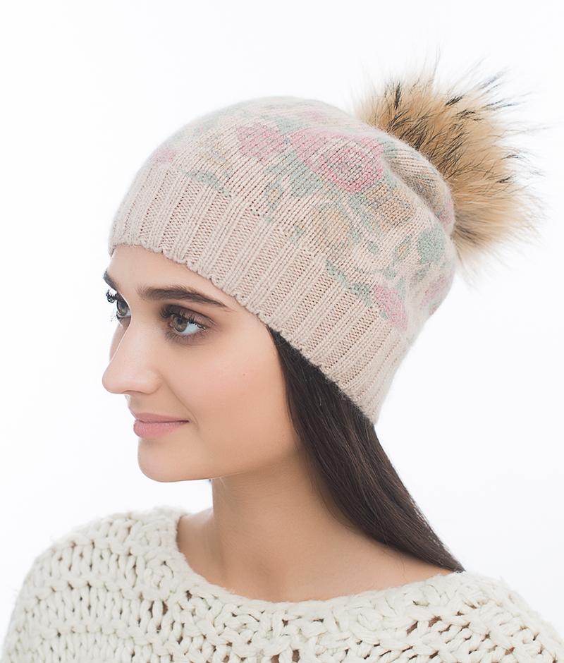 Шапка женская из текстиля от Московская Меховая Компания