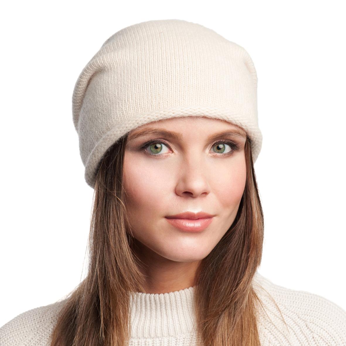 Шапка женская из текстиля, без отделки Московская Меховая Компания
