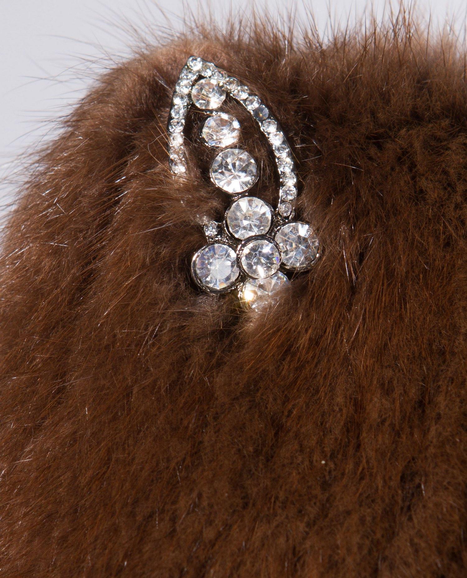 Шапка женская из ондатры, без отделки от Московская Меховая Компания