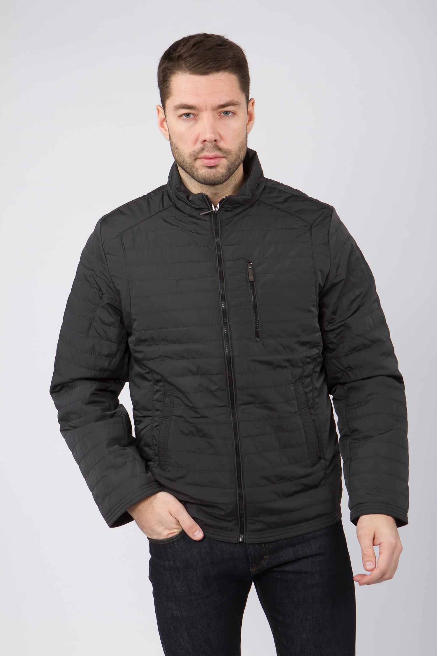 Мужская куртка из текстиля с воротником, без отделки<br><br>Воротник: стойка<br>Длина см: Короткая (51-74 )<br>Материал: Текстиль<br>Цвет: серый<br>Вид застежки: центральная<br>Застежка: на молнии<br>Пол: Мужской<br>Размер RU: 56