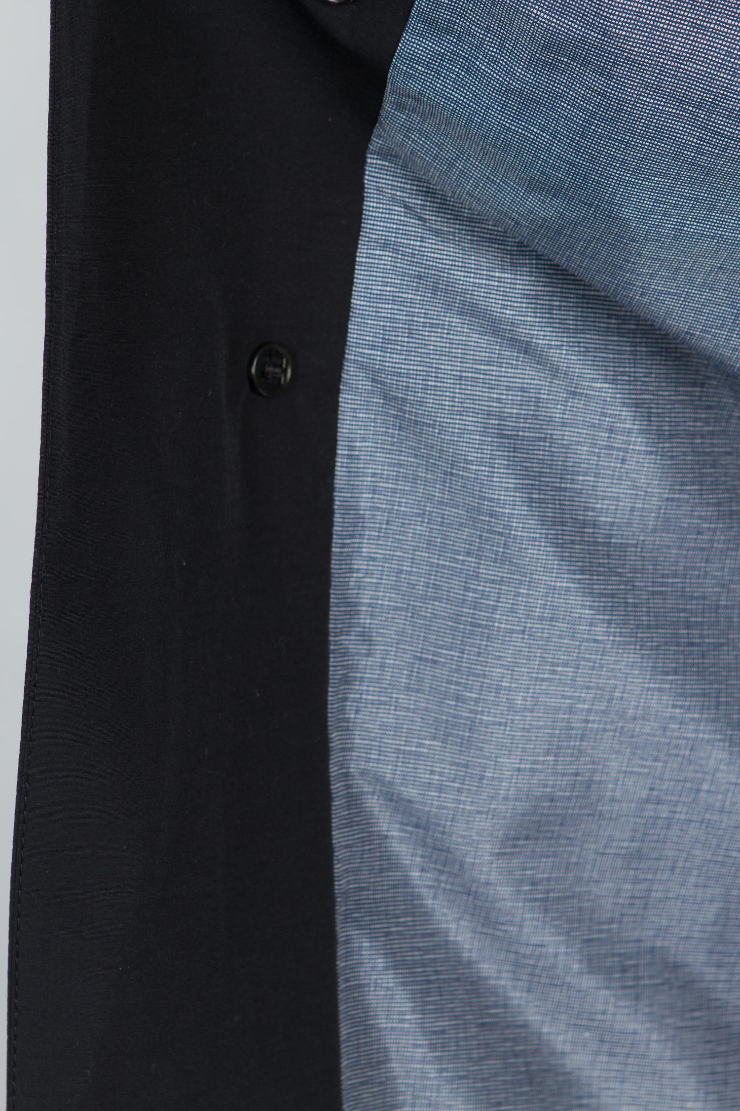 Мужской плащ из текстиля с воротником, без отделки