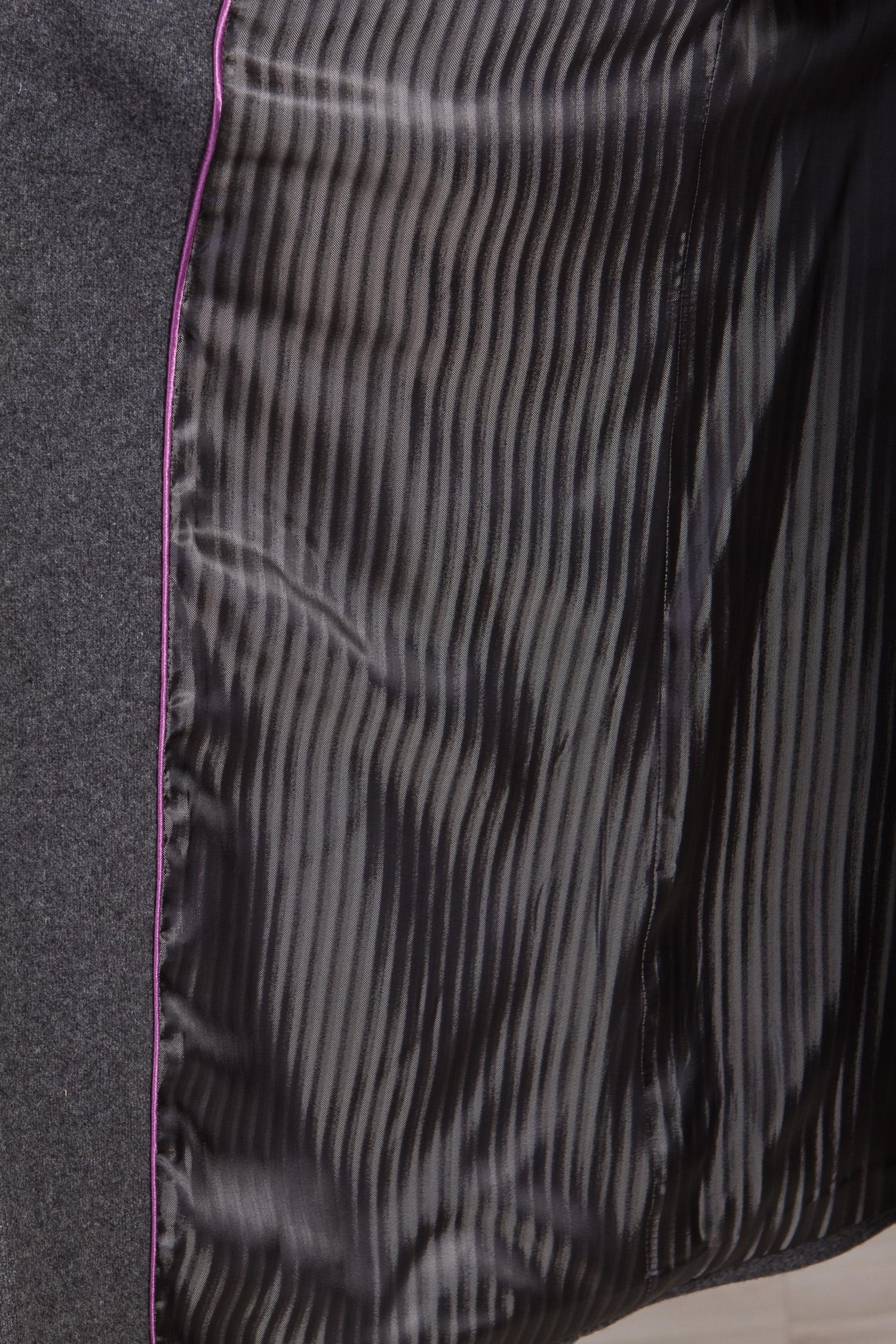 Мужское полупальто из текстиля с воротником, без отделки от Московская Меховая Компания