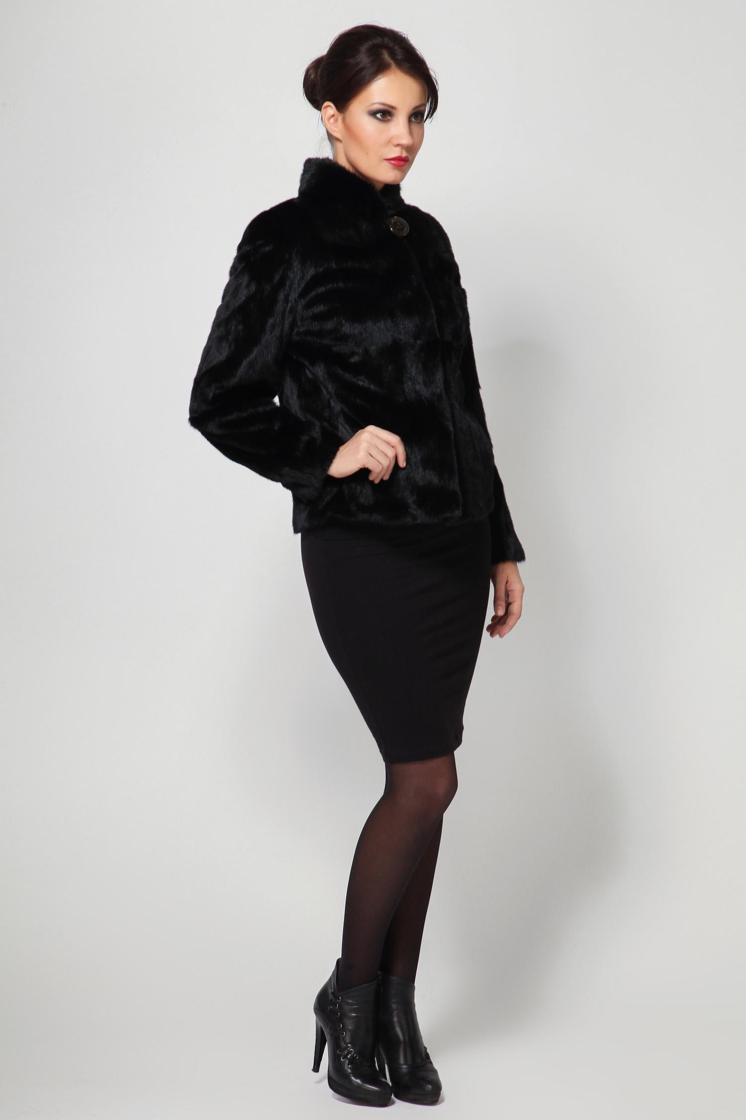 Куртка из норки с воротником, без отделки от Московская Меховая Компания